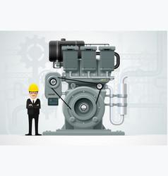 Industrial engine machinery factory engineering vector
