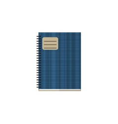 Isolated notebook flat icon copybook vector