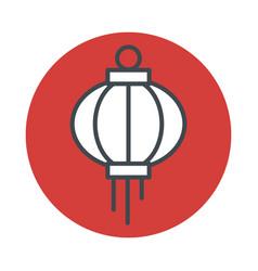 japanese lantern icon isolated on white background vector image