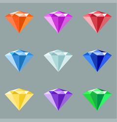 jewels set gem stock vector image