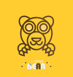 line style bear vector image