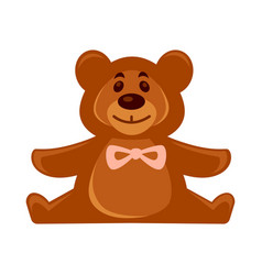 little toy brown bear vector image vector image