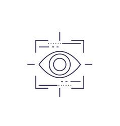 Machine vision line icon vector