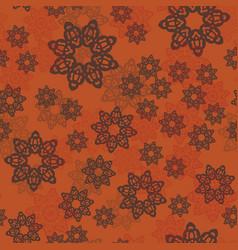 mandala pattern or floral elements randomly vector image