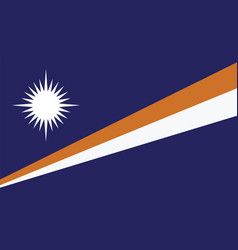 Marshall islands flag for independence day and vector