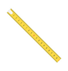 measure tape meter scale vector image