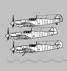 Messerschmitt bf 109 vector