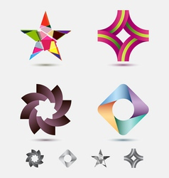 modern icon or logo set vector image
