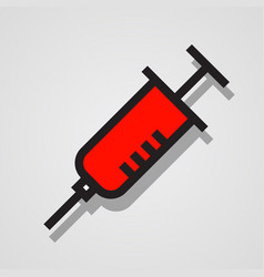 modern web icon of medical syringe vector image