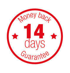 money back guarantee fourteen days vector image