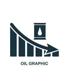 Oil decrease graphic icon mobile app printing vector