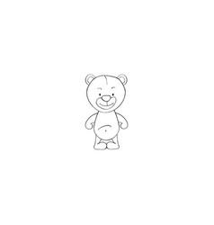 panda cartoon icon vector image