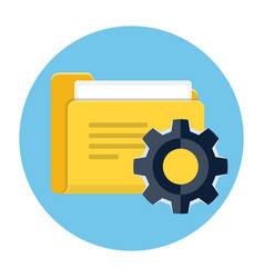 Project management icon vector