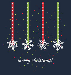 simple christmas card design in flat style vector image