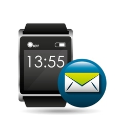 smart watch concept email social media vector image