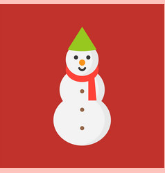 Snowman icon in flat design for use as material vector