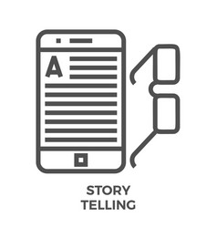 Story telling line icon vector