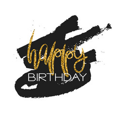 Stylish happy birthday card template vector