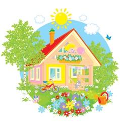Summer cottage vector image