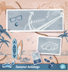 Summer scrapbooking photo album vector image