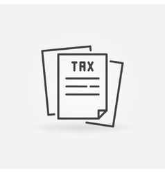 Tax line icon vector image