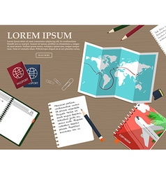 Travel tourism in a flat style World travel vector