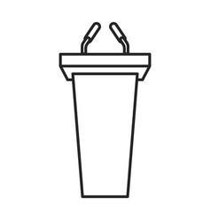 tribune iconline icon isolated vector image