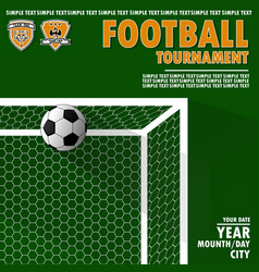 Variant of the poster for the football tournament vector