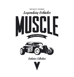 Vintage custom hot rod tee-shirt logo vector