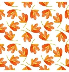 Watercolor seamless pattern exotic flowers vector