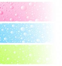 wet banner vector image