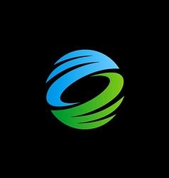 abstract circle ecology technology logo vector image vector image