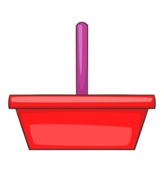 Shopping basket icon cartoon style vector image