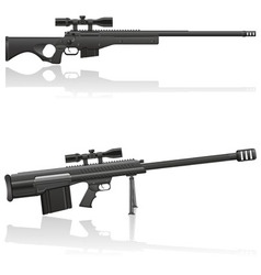 sniper rifle 03 vector image vector image