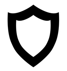 black shield icon on white background vector image vector image