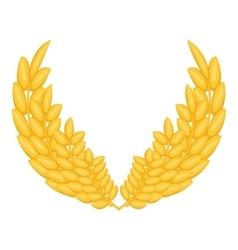 Bunch of wheat ears icon cartoon style vector