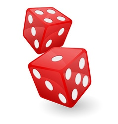 casino dice 02 vector image