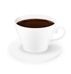 cup of coffee 01 vector image vector image