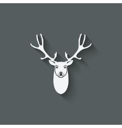 deer head design element vector image