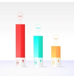 Modern box design minimal style vector image