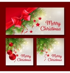 Set of Christmas templates for print or web design vector image
