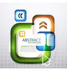 square bubble banners vector image