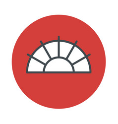 japanese fan icon isolated on white background vector image vector image