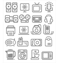 Media and household appliances Icons vector image