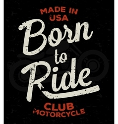 Motorbike race racer motorcycle typography vector image