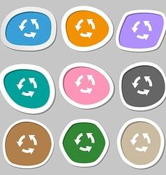 Refresh icon symbols Multicolored paper stickers vector image