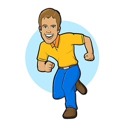 Running Character vector image vector image