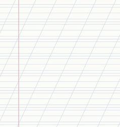 school notebook line vector image