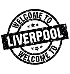 welcome to liverpool black stamp vector image vector image