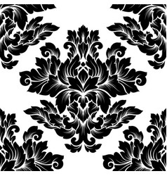 damask seamless pattern intricate design vector image vector image